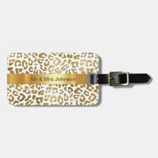 Personalized Golden Lampard Skin Luggage leather Luggage Tag