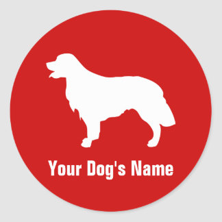 Personalized Golden Retriever ゴールデン・レトリーバー Round Sticker