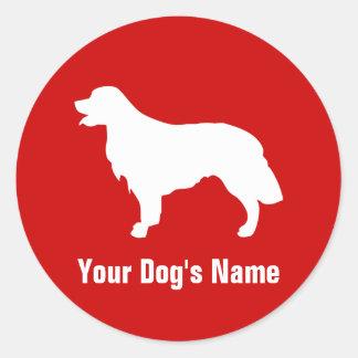 Personalized Golden Retriever ゴールデン・レトリーバー Round Sticker