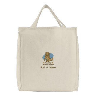 Personalized Golden Retriever Tote Bag