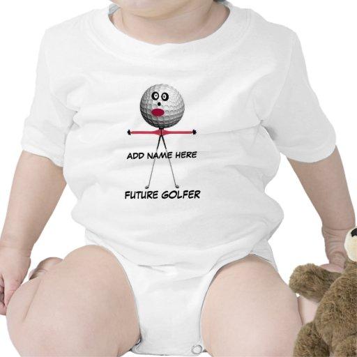 Personalized Golf Baby Cartoon Baby Bodysuit