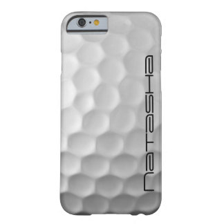 Personalized Golf Ball Dimples Texture Pattern Barely There iPhone 6 Case
