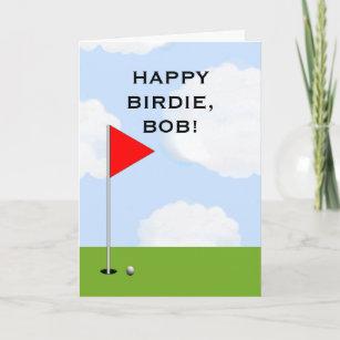 Personalized Golf Birthday Greeting Card