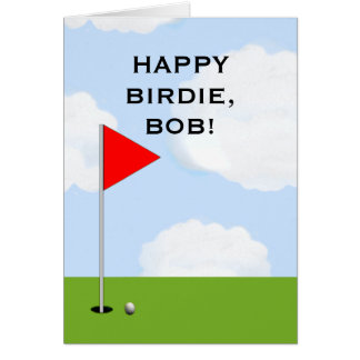 personalized golf birthday greeting card