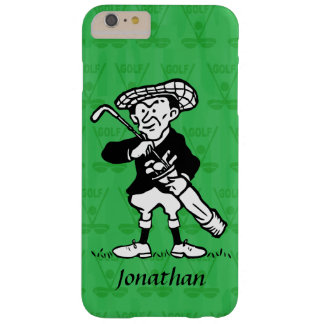 Personalized golf cartoon golfer barely there iPhone 6 plus case