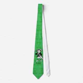 Personalized golf cartoon golfer tie