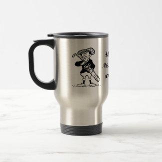 Personalized golf cartoon golfer travel mug