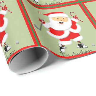 Personalized Golf Christmas Wrapping Paper