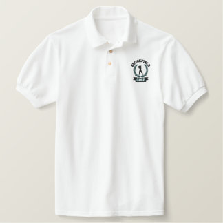 Personalized Golf Emblem with Laurel Leaves Embroidered Shirts