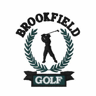 Personalized Golf Emblem with Laurel Leaves Polo Shirt