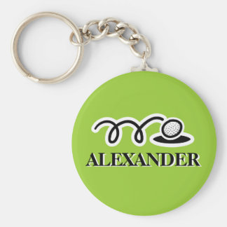 Personalized golf keychain with custom name