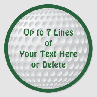 Personalized Golf Party Supplies GOLF STICKERS