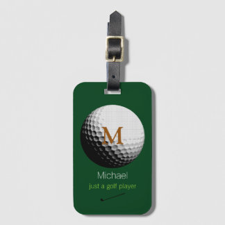 personalized golf player name luggage tag