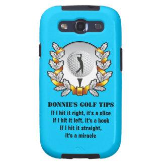 Personalized Golf Tip Golfer Galaxy SIII Case