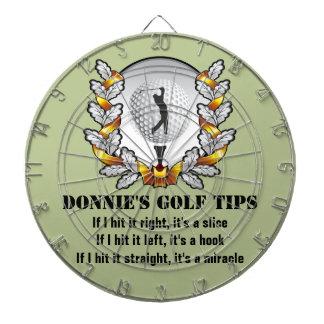 Personalized Golf Tip Golfer Green Dartboard