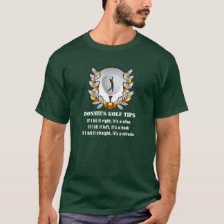 Personalized Golf Tip Golfer Green T-Shirt