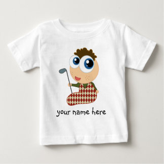 Personalized Golfer Golfing Kids T-shirt