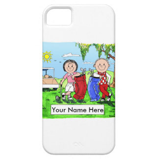 Personalized Golfing Couple iPhone 5 Covers