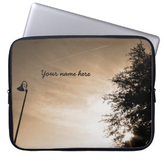 Personalized Good Morning - Sepia Laptop Sleeve