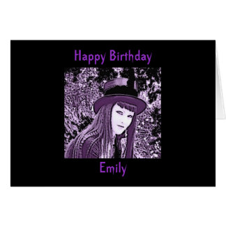 Personalized Gothic Birthday Card