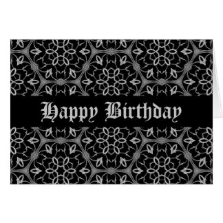 Personalized Gothic birthday Greeting Card