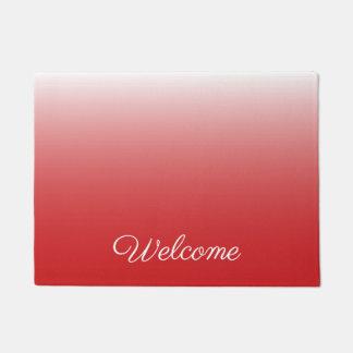 Personalized gradient ombre red doormat