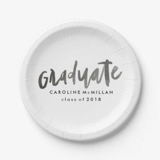 Personalized Graduation Paper Plate