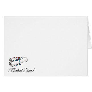 Personalized Graduation Thank You Card/Stationery Card