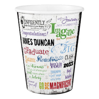 Personalized Graduation Word Art Paper Cup