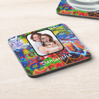 Personalized graffiti coaster