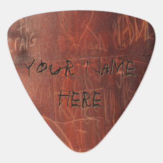 Personalized Graffiti on Guitar Pick