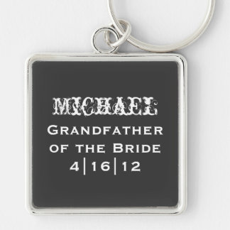 Personalized Grandfather of the Bride Keychain