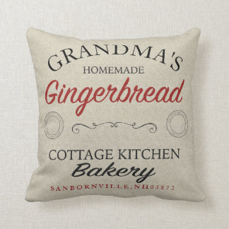 Personalized Grandma's Gingerbread Pillow