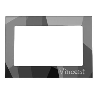 Personalized Gray Abstract Picture Frame
