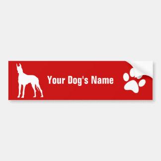 Personalized Great Dane グレート・デーン Bumper Sticker