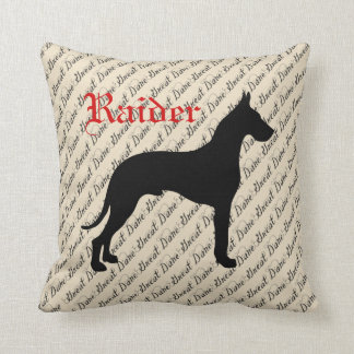 Personalized Great Dane Cushion