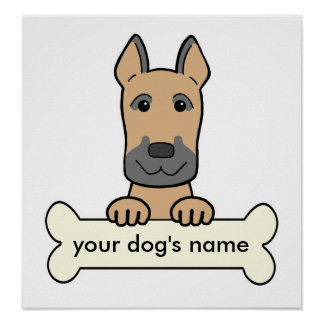 Personalized Great Dane Poster