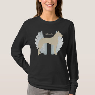 Personalized Great Dane with Wings Background T-Shirt