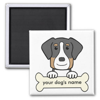 Personalized Greater Swiss Mountain Dog Square Magnet