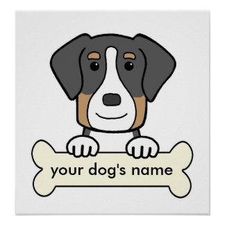 Personalized Greater Swiss Mountain Dog Poster