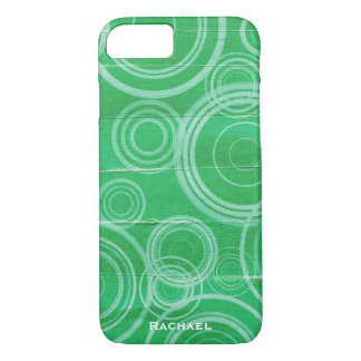 Personalized Green Circles iPhone 8/7 Case