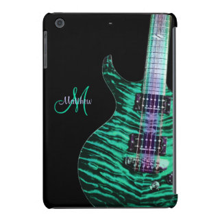 Personalized Green Electric Guitar Music iPad Case