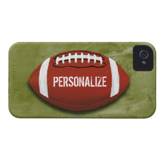 Personalized Green Grunge Football iPhone 4 Case
