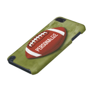 Personalized Green Grunge Football iPod Touch (5th Generation) Cases