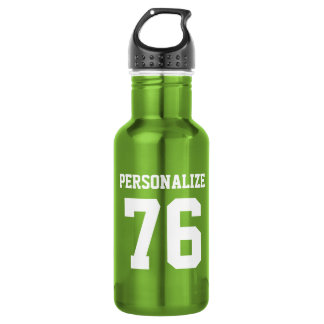Personalized green metal sports water bottle 532 ml water bottle