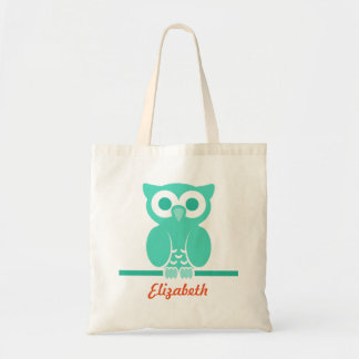 Personalized Green Owl kids