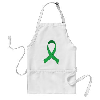 Personalized Green Ribbon Awareness Gift Apron