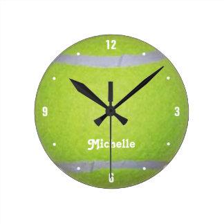 Personalized Green Tennis Ball Clocks