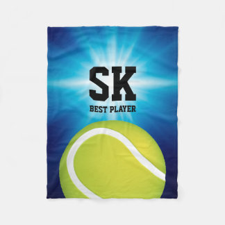 Personalized | Green Tennis Ball Fleece Blanket