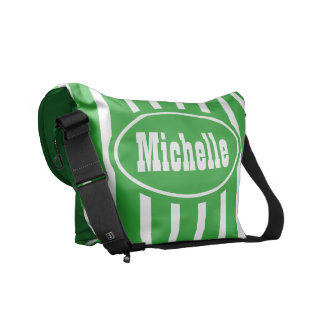 Personalized Green VS Western Messenger Bag